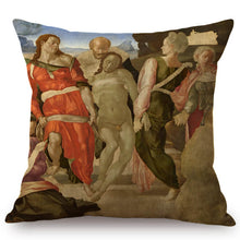 Load image into Gallery viewer, Michelangelo Inspired Cushion Covers