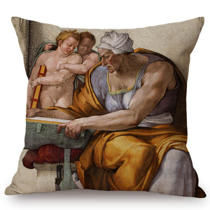 Michelangelo Inspired Cushion Covers