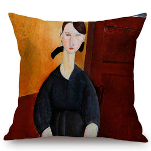 Amadeo Modigliani Inspired Cushion Covers