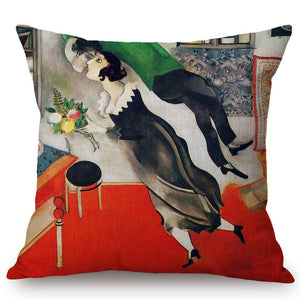 Marc Chagall Inspired Cushion Covers