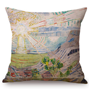 Edvard Munch Inspired Cushion Covers