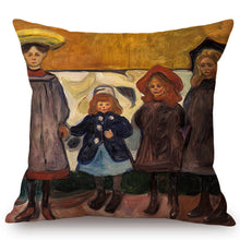 Load image into Gallery viewer, Edvard Munch Inspired Cushion Covers