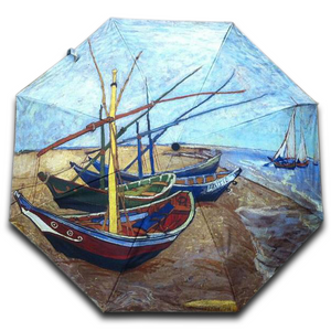 "Vincent van Gogh ""Fishing Boats on The Beach"" Umbrella"