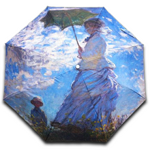 "Load image into Gallery viewer, Claude Monet ""Madame Monet and Her Son"" Umbrella"