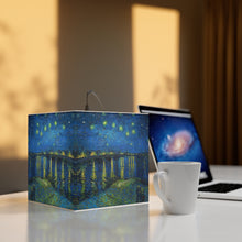 "Load image into Gallery viewer, Vincent van Gogh ""Starry Nigh over the Rhone"" Cube Lamp"
