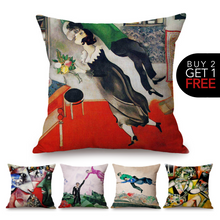 Load image into Gallery viewer, Marc Chagall Inspired Cushion Covers