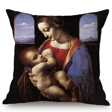Load image into Gallery viewer, Leonardo Da Vinci Inspired Cushion Covers Madonna Litta Cushion Cover