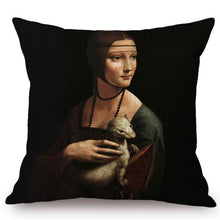 Load image into Gallery viewer, Leonardo Da Vinci Inspired Cushion Covers Lady With An Ermine Cushion Cover