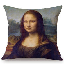 Load image into Gallery viewer, Leonardo Da Vinci Inspired Cushion Covers Mona Lisa Cushion Cover