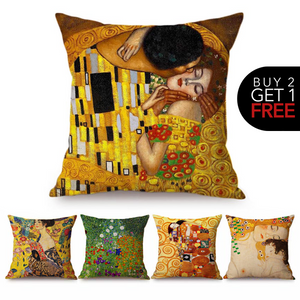 Gustav Klimt Inspired Cushion Covers