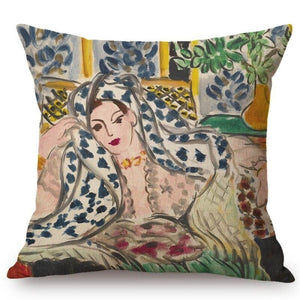Henri Matisse Inspired Cushion Covers Odalisque In The Black Chair Cushion Cover