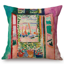 Load image into Gallery viewer, Henri Matisse Inspired Cushion Covers Open Window At Collioure Cushion Cover