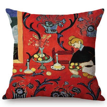Load image into Gallery viewer, Henri Matisse Inspired Cushion Covers Harmony In Red Cushion Cover
