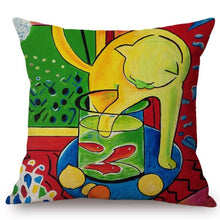 Henri Matisse Inspired Cushion Covers The Cat With Red Fish Cushion Cover