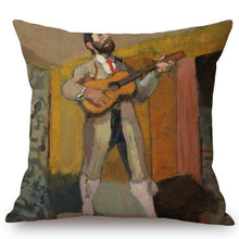 Load image into Gallery viewer, Henri Matisse Inspired Cushion Covers The Guitarrist Cushion Cover