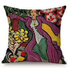 Load image into Gallery viewer, Henri Matisse Inspired Cushion Covers Woman In A Purple Coat Cushion Cover
