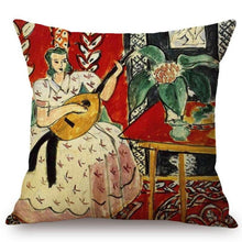 Load image into Gallery viewer, Henri Matisse Inspired Cushion Covers The Lute Cushion Cover