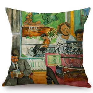 Henri Matisse Inspired Cushion Covers Music Lesson Cushion Cover