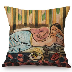 Henri Matisse Inspired Cushion Covers Odalisque In The Red Box Cushion Cover
