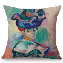 Load image into Gallery viewer, Henri Matisse Inspired Cushion Covers Madame Cushion Cover