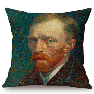 Vincent Van Gogh Inspired Cushion Covers 44X44Cm No Filling / Self-Portrait Cushion Cover