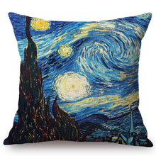 Load image into Gallery viewer, Vincent Van Gogh Inspired Cushion Covers 44X44Cm No Filling / The Starry Night Cushion Cover