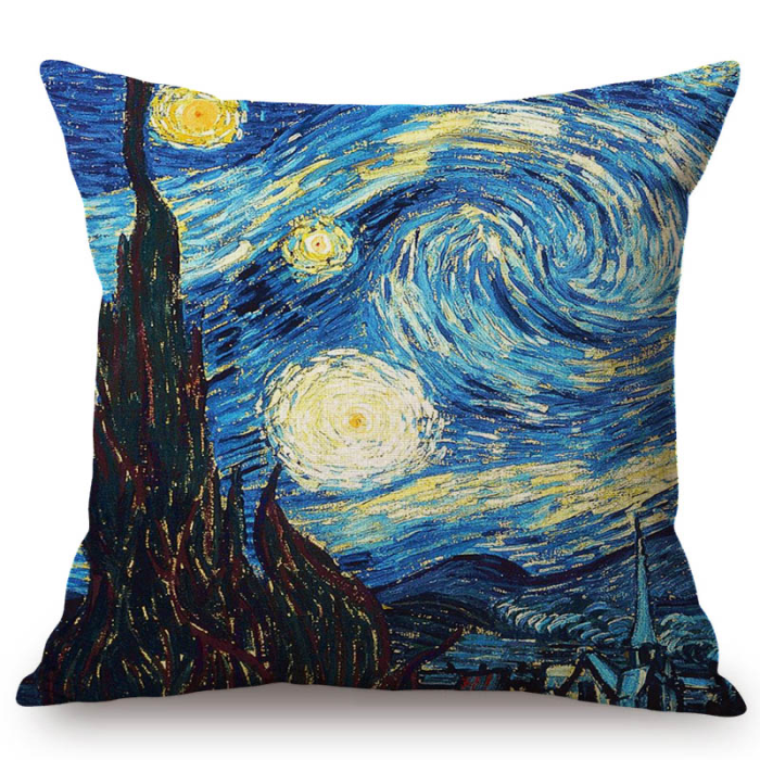 Vincent Van Gogh Inspired Cushion Covers 44X44Cm No Filling / The Starry Night Cushion Cover