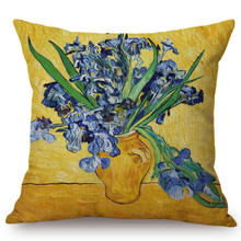 Vincent Van Gogh Inspired Cushion Covers 44X44Cm No Filling / Vase With Irises Cushion Cover