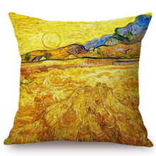 Load image into Gallery viewer, Vincent Van Gogh Inspired Cushion Covers 44X44Cm No Filling / Wheatfield With A Reaper Cushion Cover
