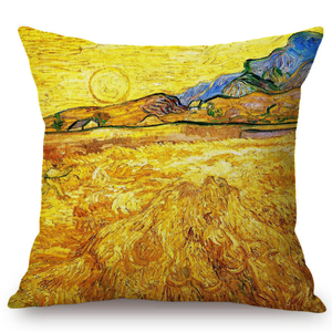 Vincent Van Gogh Inspired Cushion Covers 44X44Cm No Filling / Wheatfield With A Reaper Cushion Cover