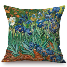 Load image into Gallery viewer, Vincent Van Gogh Inspired Cushion Covers 44X44Cm No Filling / Irises Cushion Cover