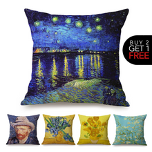 Load image into Gallery viewer, Vincent van Gogh Inspired Cushion Covers
