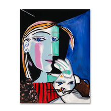 Load image into Gallery viewer, Marie Therese's Portrait with Cat painting by Cynthia Castejón