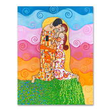 Load image into Gallery viewer, The Kiss painting by Cynthia Castejón