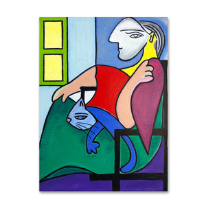 Woman in a Chair By the Window painting by Cynthia Castejón