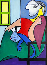 Load image into Gallery viewer, Woman in a Chair By the Window painting by Cynthia Castejón