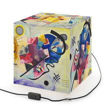 "Load image into Gallery viewer, Wassily Kandinsky ""Yellow-Red-Blue"" Cube Lamp"