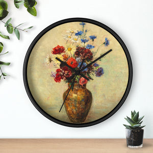 "Odilon Redon ""Flowers in a Vase"" Wall Clock"