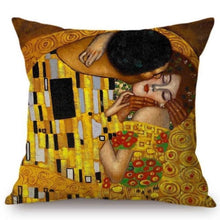 Load image into Gallery viewer, Gustav Klimt Inspired Cushion Covers The Kiss Cushion Cover