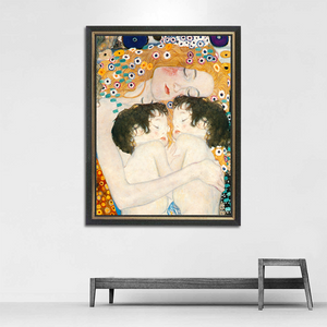 "Gustav Klimt variation ""Mother and Child Twins"" Wall Art"