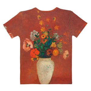 "Odilon Redon ""Bouquet in a Chinese Vase"" Women's T-Shirt"