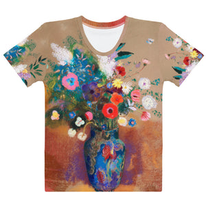 "Odilon Redon ""Bouquet of Flowers"" Women's T-Shirt"