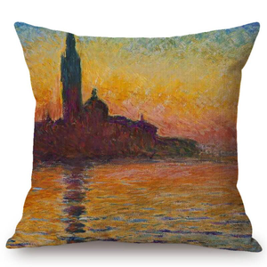 Claude Monet Inspired Cushion Covers San Giorgio Maggiore At Dusk Cushion Cover