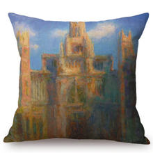 Load image into Gallery viewer, Claude Monet Inspired Cushion Covers Rouen Cathedral Cushion Cover