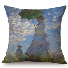 Load image into Gallery viewer, Claude Monet Inspired Cushion Covers Madame And Her Son Cushion Cover