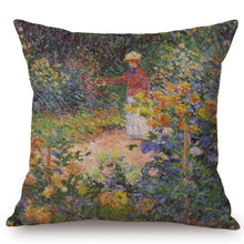 Load image into Gallery viewer, Claude Monet Inspired Cushion Covers The Garden Cushion Cover