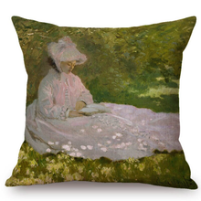 Load image into Gallery viewer, Claude Monet Inspired Cushion Covers Spring Time Cushion Cover