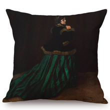 Load image into Gallery viewer, Claude Monet Inspired Cushion Covers Camille Cushion Cover
