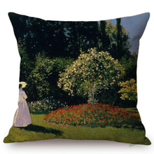 Load image into Gallery viewer, Claude Monet Inspired Cushion Covers Madame Looking At The Tree Cushion Cover