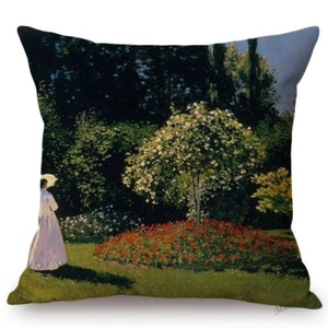 Claude Monet Inspired Cushion Covers Madame Looking At The Tree Cushion Cover